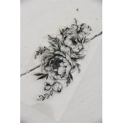 Stampo decorativo Oval  flower